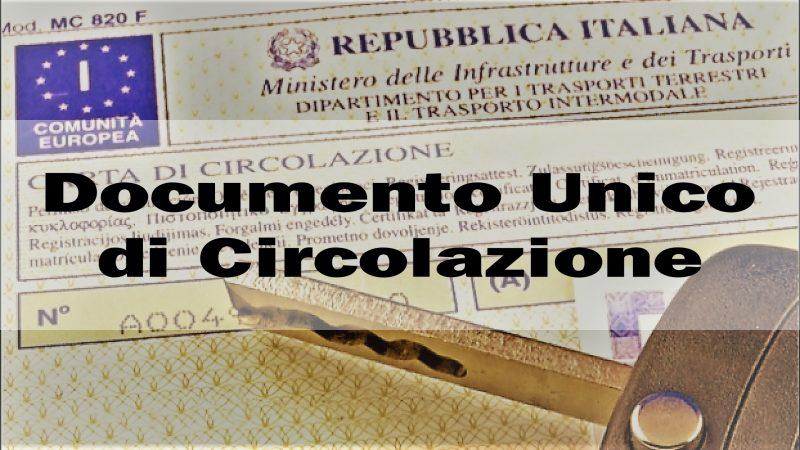 In vigore il Documento Unico di Circolazione. Di cosa si tratta?